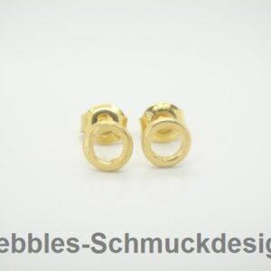 Donuts!  Mini..Ohrstecker 925 Silber 24K vergoldet