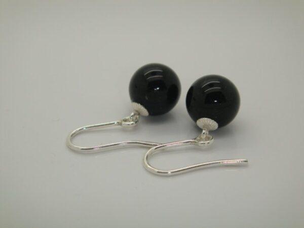 PUR & Edel... Ohrhänger schwarzer Onyx 925 Silber