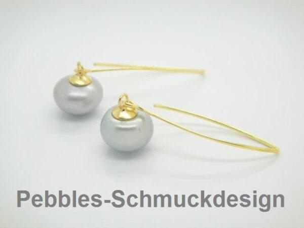 Pur!! elegante Ohrringe  mit Süßwasserzuchtperlen