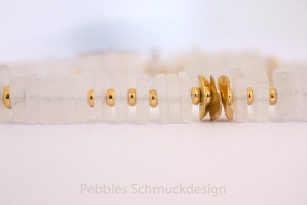 Eiskönigin!! Kette aus Bergkristall & 925 vergold.