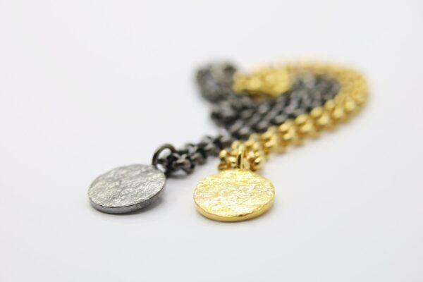 Partnerlook.. edles Armband  925 verg. & schwarz