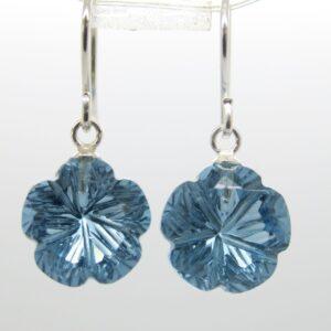 Summer! leuchtende Ohrhänger  blue Quarz 925