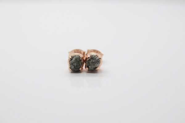 Rohdiamanten...edel eingefasst 925 rosè vergoldet