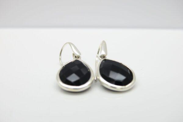 Black Onyx in 925 Silber...edel eingefasst
