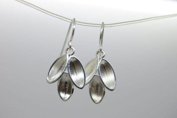 Leaves... glänzende Ohrhänger  925 Silber