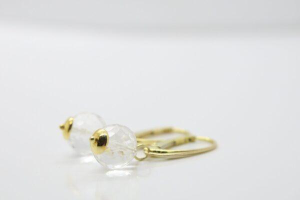 Tiny...edle Bergkristall Ohrringe  925 vergoldet