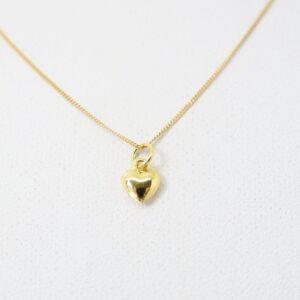 Herzig...ganz zartes Herzchen an 333/8K Goldkette