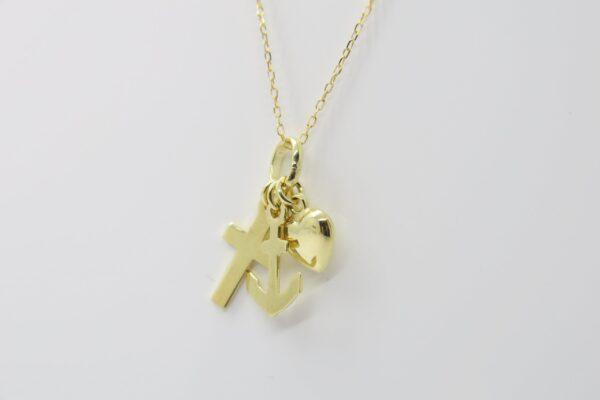 Liebe, Glaube, Hoffnung..an zarter 333er Goldkette