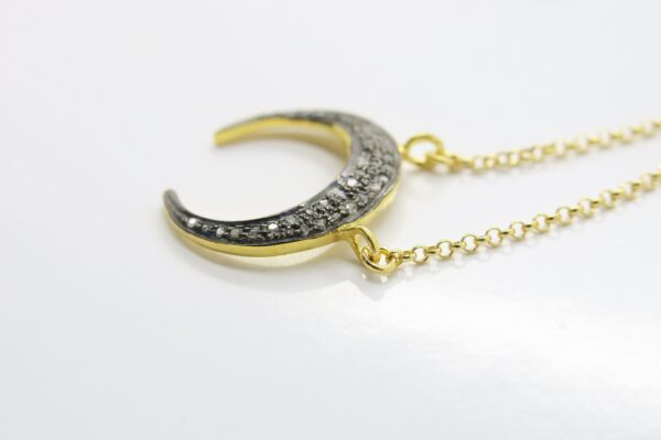 Diamond Moon! ganz edle Halskette 925 vergoldet