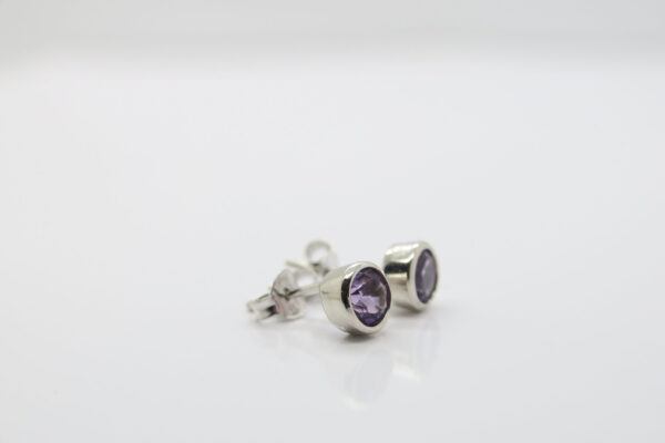 Deluxe...edle Amethyst-Ohrstecker  925 Silber