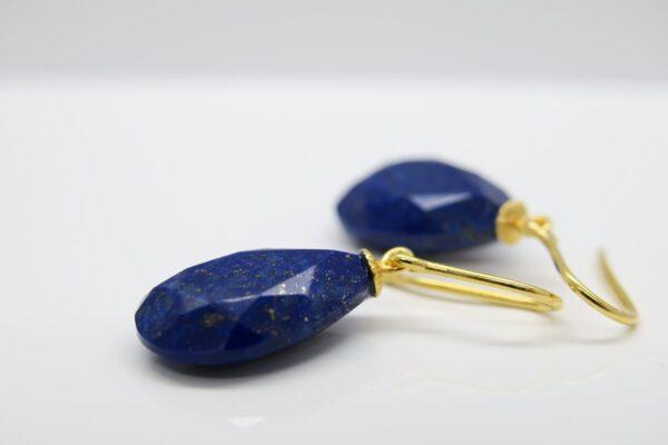 Lapislazuli...königsblaue Ohrhänger 925 vergoldet