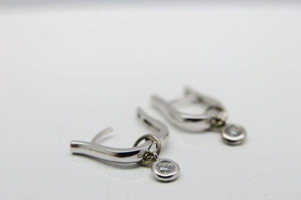 Weißgold Ohrringe..zart & edel 0,05ct Brillant 18K