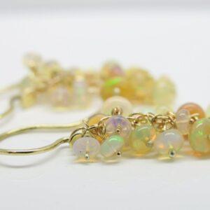 Welo-Opal...edle 14k Opal-Einhänger für Ohrhaken