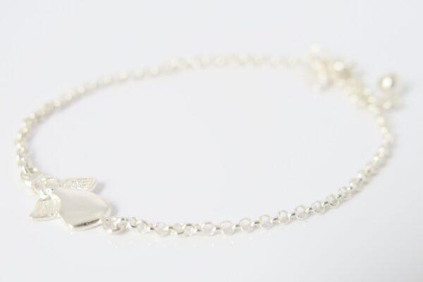Angel!  zartes Armband mit Engel in 925 Silber
