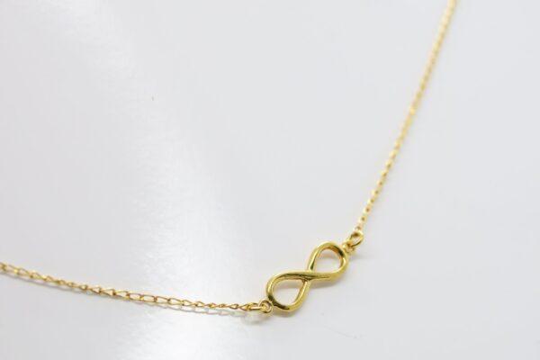 Infinity!! zarte Kette 925 Silber vergoldet