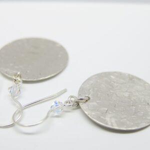 Statement! edle Ohrhänger geschmiedet 925 Silber