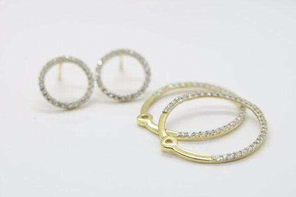 Infinity..Ear Jacket Ohrstecker 8k Gold & Zirkonia