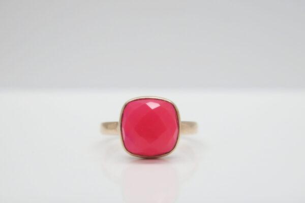 Chalcedon pink...edler Ring 925 in rosè vergoldet