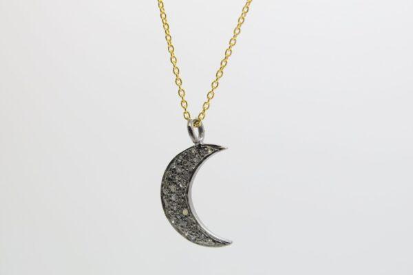 Diamond Moon! zarte, ganz edle Halskette 925 verg