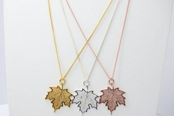 Leaves...edle Kette  925 Silber oder vergoldet