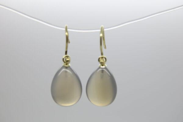 Grey...edle Einhänger 14K Gold mit grauem Achat