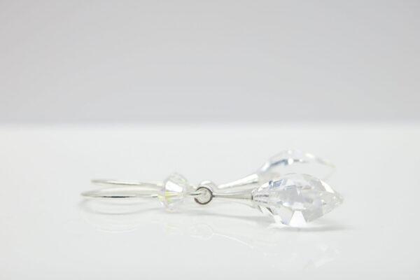 Eiszapfen ...glitzernde Ohrringe in 925 Silber