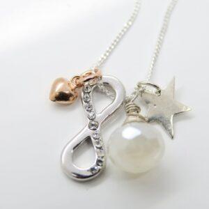 Sammelkette... Sparkling Infinity Star 925 Silber