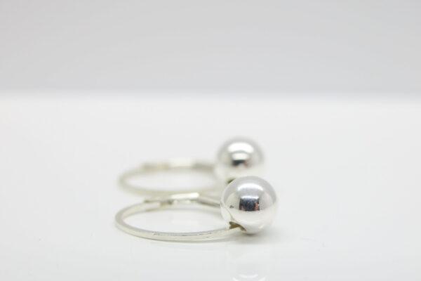Silver ball...funkelnde 925 Ohrringe mit Kugel