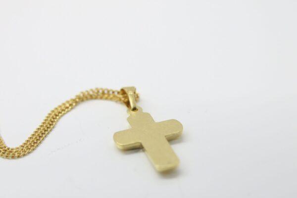 So edel..Kreuzanhänger mit Diamant & 585 Goldkette