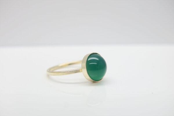 Onyx...smaragdgrüner Ring 925 vergoldet
