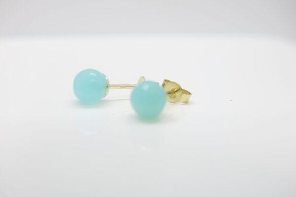 Spring!  leuchtender Ohrstecker Sea-Blue 333 Gold