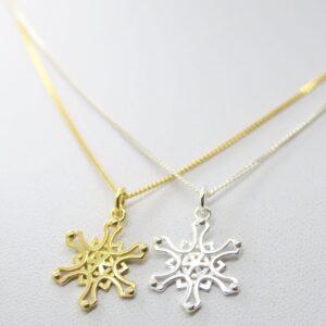 Snowflake..zarte Kette 925 Silber vergoldet