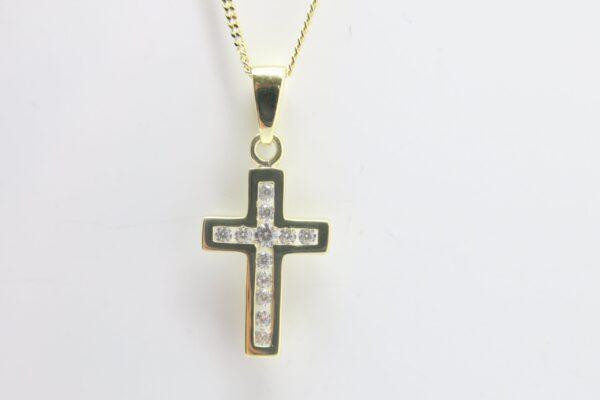 Shiny...edle 8k Goldkette & funkelndes Kreuz 8k