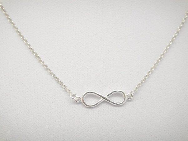 Infinity!! zarte Halskette in 925 Silber
