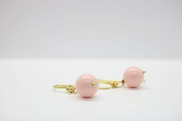 Sag ja:-) zarte Ohrhänger rosa Perle 925 vergoldet