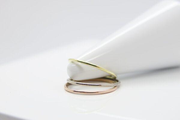 Zarter Ring 585 in Gelb-Rot- oder Weißgold