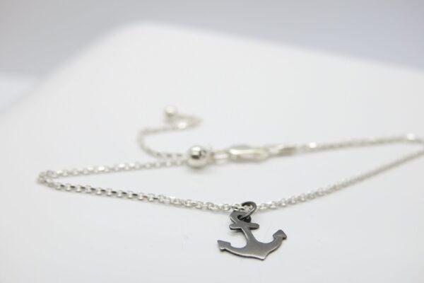 Black Anchor..zartes Armband 925 Silber