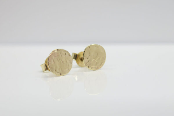 Struktur Punkt...Ohrstecker 8,5mm groß, 333Gold