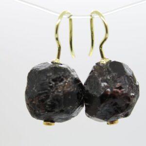 Granat...edle Ohrringe 925 vergoldet
