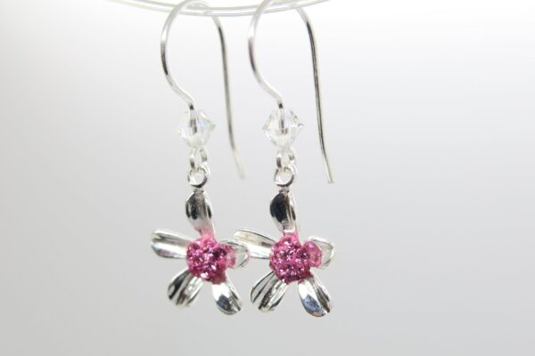 Pink Daisy...süße Blümchen Ohrhänger 925 Silber
