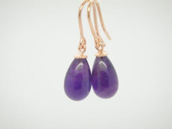 Amethyst violett...Ohrhänger 925 rosevergoldet