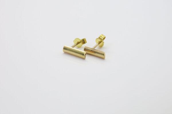 PUR...edle 585er Gold-Ohrstecker Stäbchen