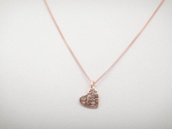 Romantik! Kette mit Herz..925 rosevergoldet