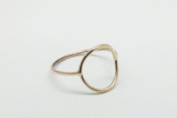 New 2018!  zarter Ring Kreis 585 Rosègold