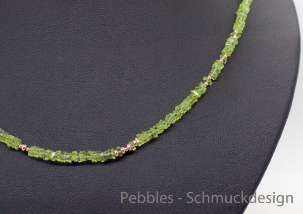 Peridot...edles Collier 925 Silber rosè vergoldet