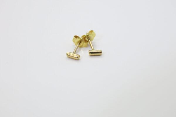 Tiny...5mm Stäbchen Ohrstecker 333Gold