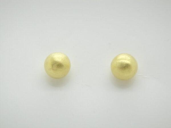 Punkt!!  Ohrstecker 925 Silber vergoldet