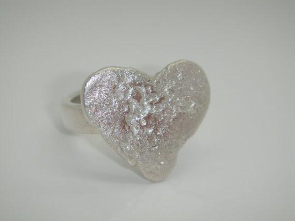 Unikat!! Ring mit Herz:-)) aus 925 Silber