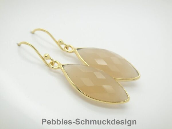 PUR & elegant! Chalcedon...nude in 925 vergoldet