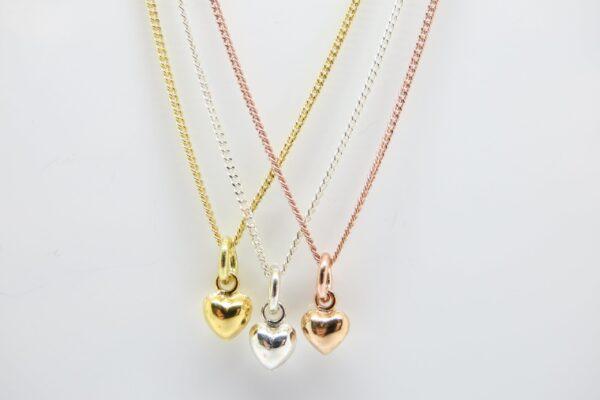 Romantik! Halskette tiny heart 925  vergoldet